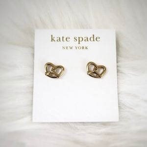New Kate Spade Gold Fill Pretzel Earrings